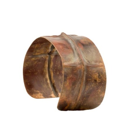 Fold Formed Cross Copper Cuff