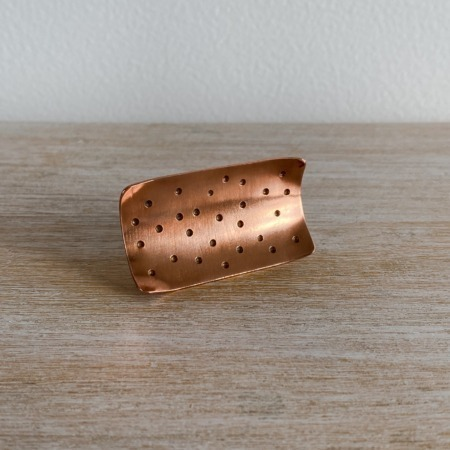 Betsy C Jewellery Copper Dimple Statement Ring